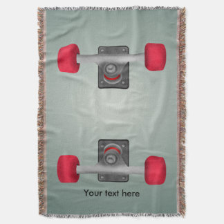 Red Skateboad Wheels Throw