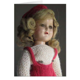 Red Skater Doll 2 Greeting Card - Blank