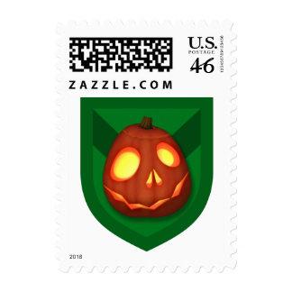 Red Skelatene WarP o'Lantern Postage