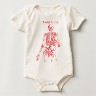 Red Skeleton Baby Bodysuit