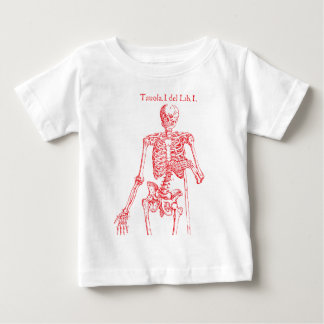 Red Skeleton Baby T-Shirt
