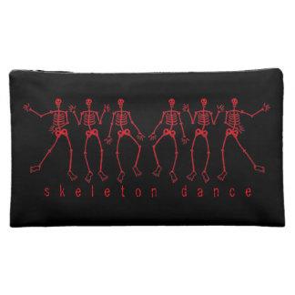 red skeleton dance cosmetic bag
