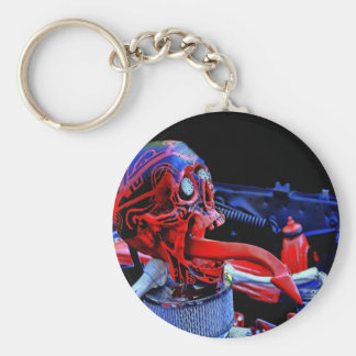 Red skeleton head in car key chains