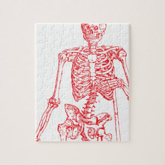 Red Skeleton Jigsaw Puzzle