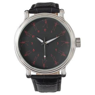 red skeleton watch