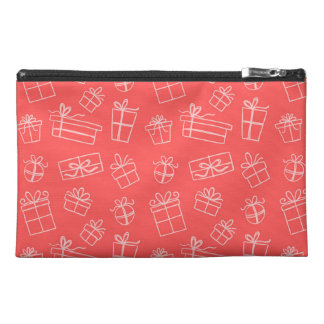 Red Sketchy Gift Pattern Travel Accessories Bags