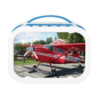 Red ski plane, Alaska Lunch Box
