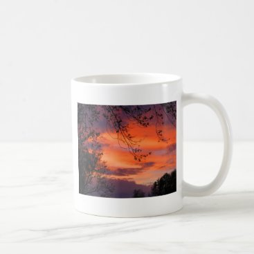 Coffee Themed Red Skies at Night, Sailor's Delight Coffee Mug