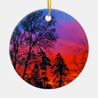Red Skies in the Morning Ornament