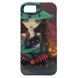 Red Skies of October Halloween Witch Art iPhone 5 Cover