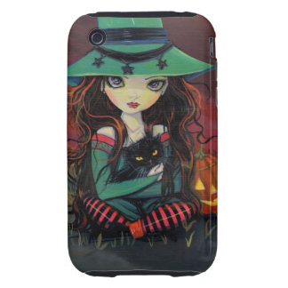 Red Skies of October Halloween Witch Art Tough iPhone 3 Case