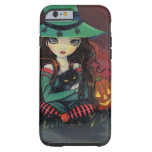 Red Skies of October Halloween Witch Art Tough iPhone 6 Case