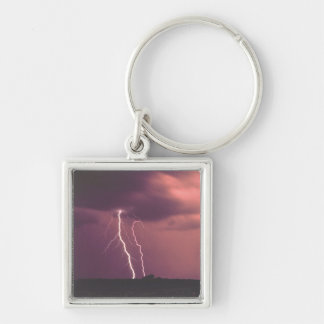 Red Skies with Lightning Keychain