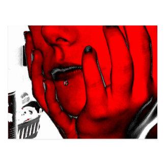RED SKIN MONICAN POSTCARD