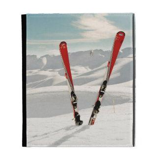 Red Skis iPad Folio Cases