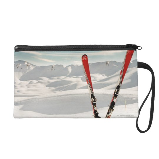 Red Skis Wristlet Purse