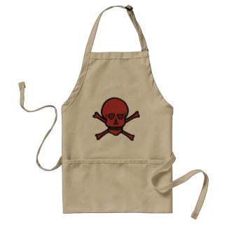 Red Skull And Crossbones Apron