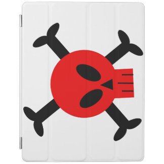 Red Skull And Crossbones iPad Cover
