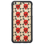 Red Skull And Crossbones iPhone 6 Plus Wooden Case Carved® Maple iPhone 6 Plus Bumper Case