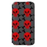 Red Skull And Crossbones iPhone 6 Wallet Case Incipio Watson™ iPhone 6 Wallet Case