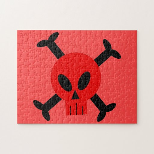 Red Skull And Crossbones Puzzle