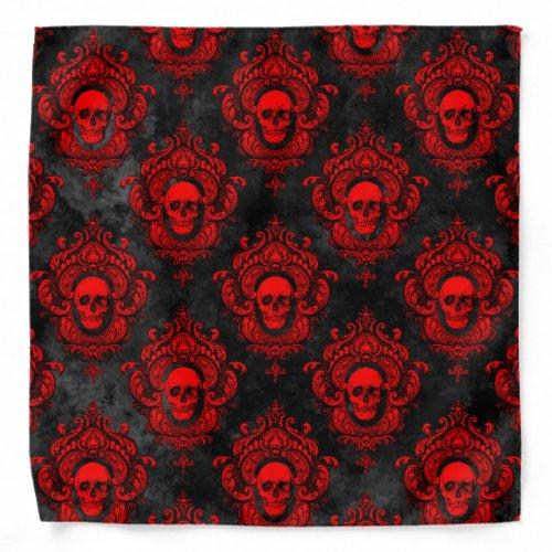 Red Skull and Gothic Black Bandana