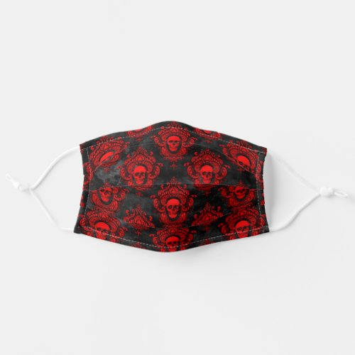 Red Skull and Gothic Black Cloth Face Mask