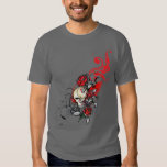 Red Skull and Roses Shirt