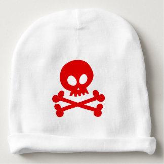 Red skull baby beanie