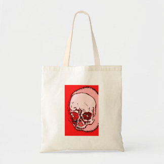 Red Skull Canvas Bag