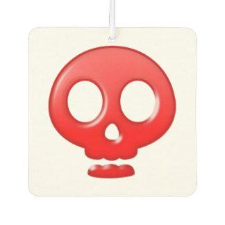 red skull car air freshener