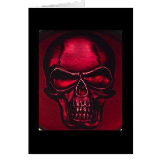RED SKULL CARD