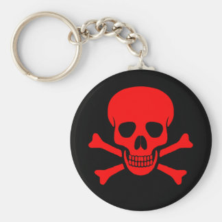 Red Skull & Crossbones Keychain