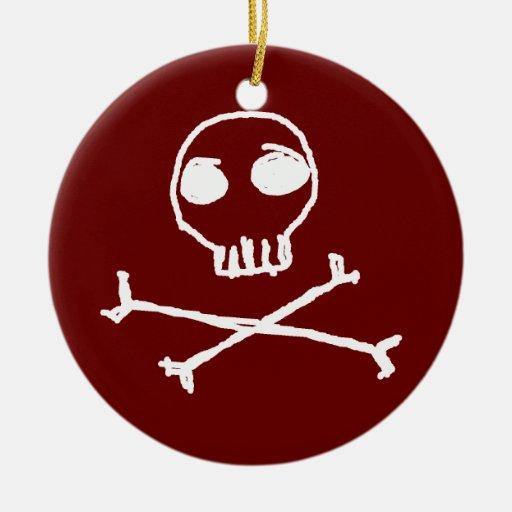 Red Skull & Crossbones Ornament