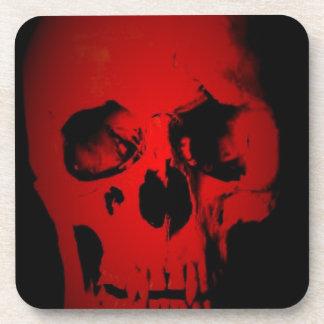 Red Skull Drink Coaster