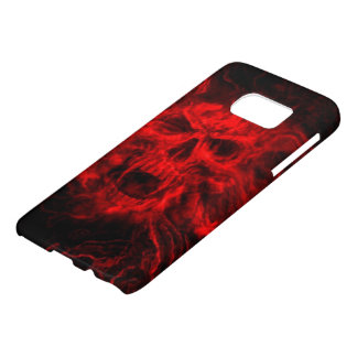 red skull head abstract art samsung galaxy s7 case