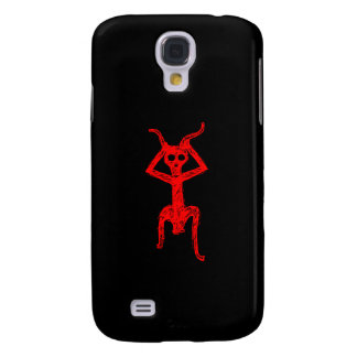 Red Skull person Fonts Samsung Galaxy S4 Case