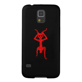 Red Skull person Fonts Case For Galaxy S5