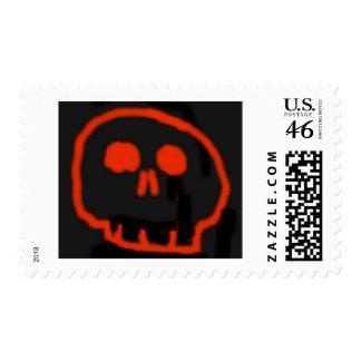 Red Skull Postage Stamp
