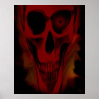 Red Skull Print