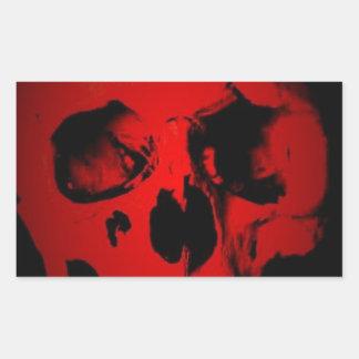 Red Skull Rectangular Sticker