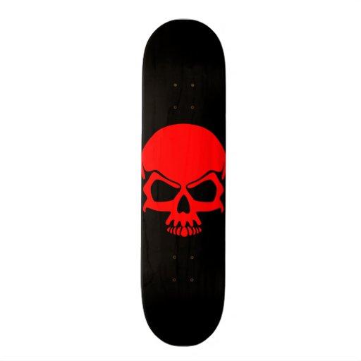 Red Skull Skateboard