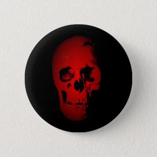 Red Skull Skeleton Button