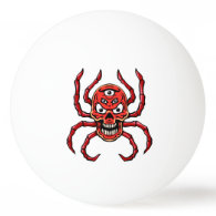 Red Skull Spider Ping-Pong Ball