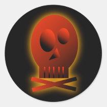 Red Skull, sticker Round Sticker