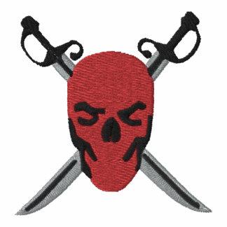 Red Skull & Swords Pirate Design