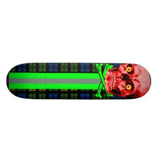 Red Skull Tartan  The MUSEUM Zazzle Gifts Skateboard