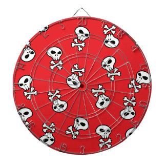 red skull tile dartboard