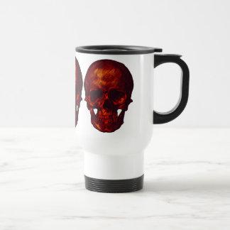 Red Skull Travel Mug
