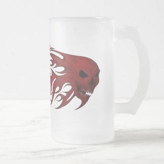 Red Skull Up in Flames  Mug